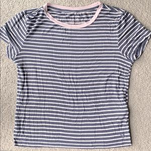 AEO soft and sexy striped pastel t shirt top
